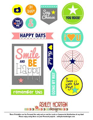 Free Phrases Printable Set from Ashley Horton Designs