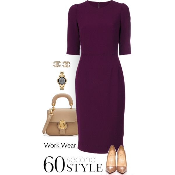 At Work by patricia-dimmick on Polyvore featuring mode, Dolce&Gabbana, Christian Louboutin, Burberry, Michael Kors, Chanel, WorkWear and 60secondstyle