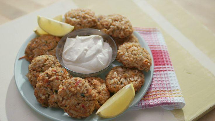 Croquettes de riz au saumon