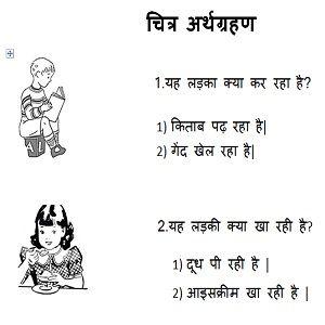 Hindi picture comprehension