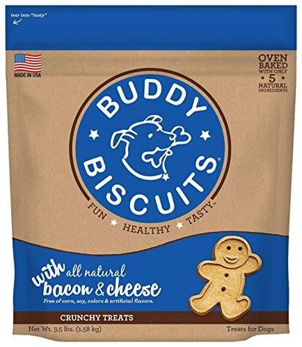 Buddy Biscuits Original Oven Baked Treats with Bacon & Cheese - 3.5 lb.
