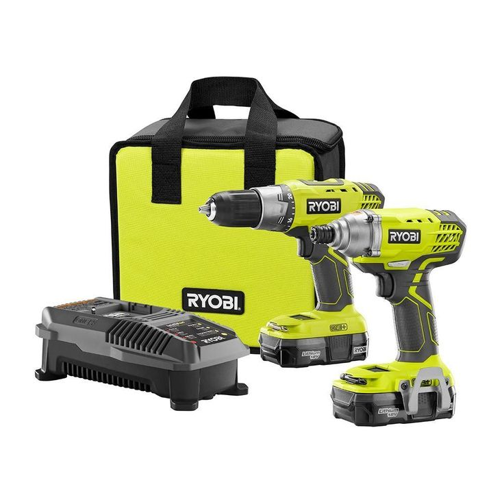 Ryobi 18-Volt ONE+ Drill/Driver and Impact Driver Kit-P1832 - The Home Depot