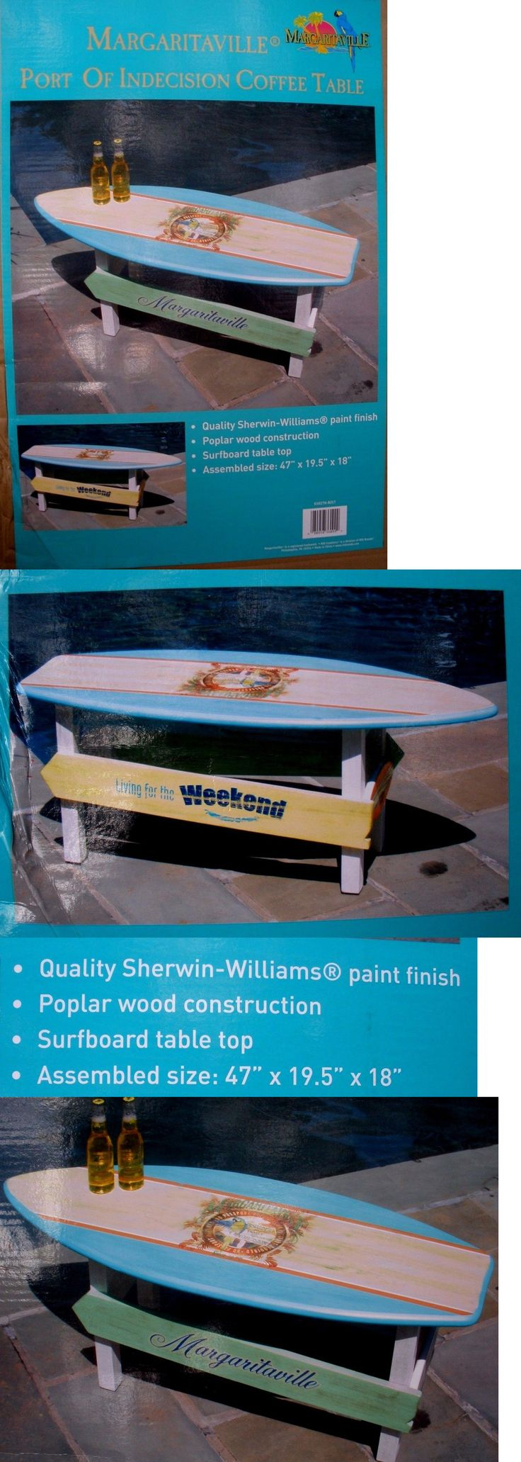 Tables 112590: Margaritaville Outdoor Surfboard Coffee Table Plus Free Gift -> BUY IT NOW ONLY: $199.95 on eBay!