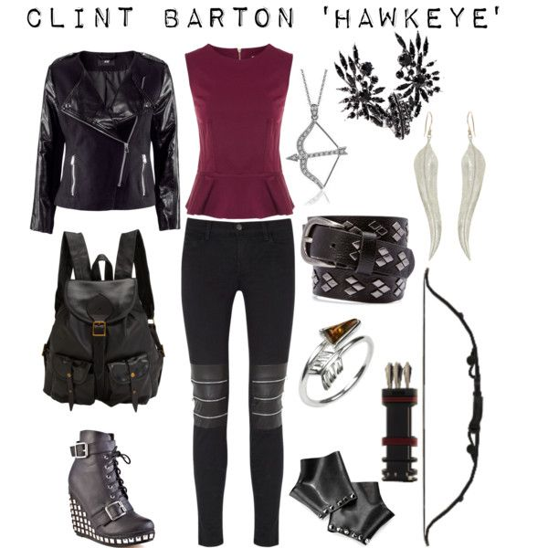 Are those gauntlets? DO PEOPLE WEAR GAUNTLETS THESE DAYS WHAAT???? Clint Barton aka Hawkeye - Avengers inspired outfit by shadowsintime on Polyvore