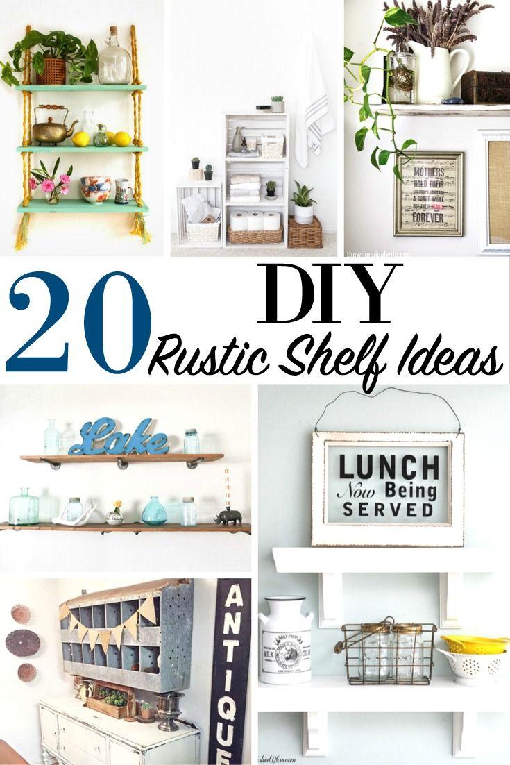 20 DIY Rustic Shelf Ideas Home House Wood Decor Contemporary Interior DesignHome