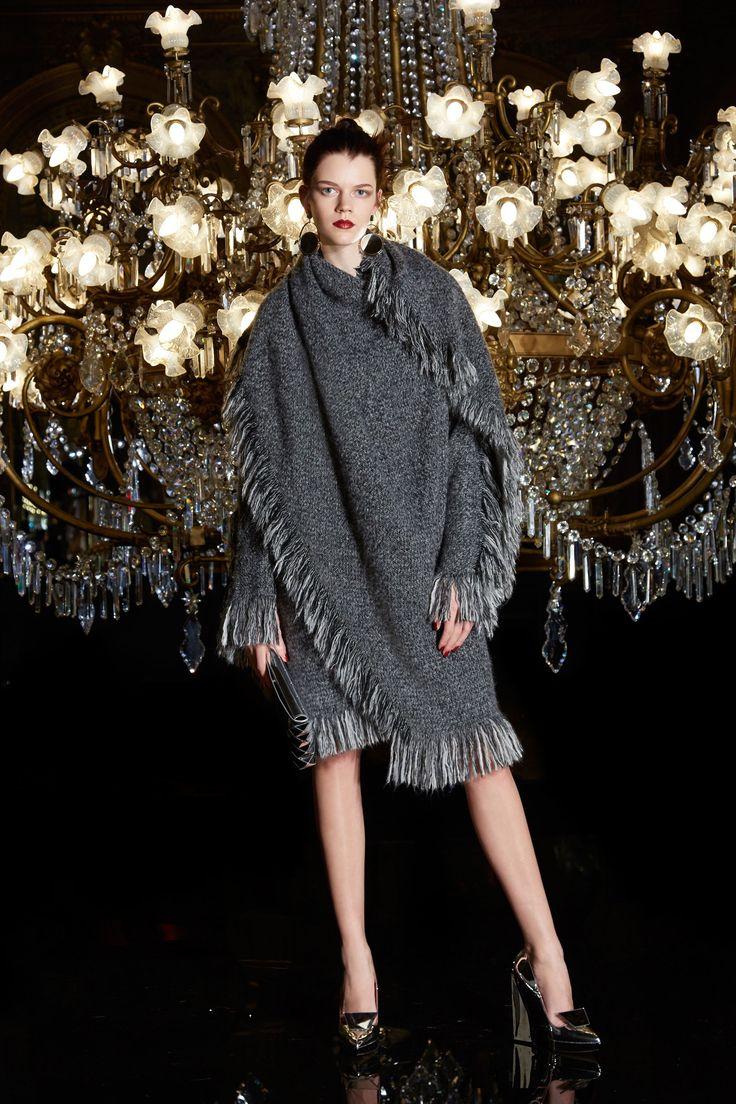Paule Ka Fall 2017 Ready-to-Wear Collection Photos - Vogue (Tweed Fringe Blanket Coat)