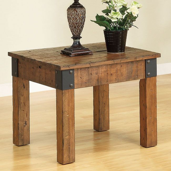 Industrial Coffee Table Lamp: 1000+ Ideas About Rustic End Tables On Pinterest