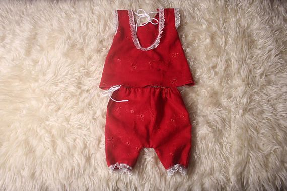 Newborn Baby Girl Dress and Bloomers setChristmas Photo