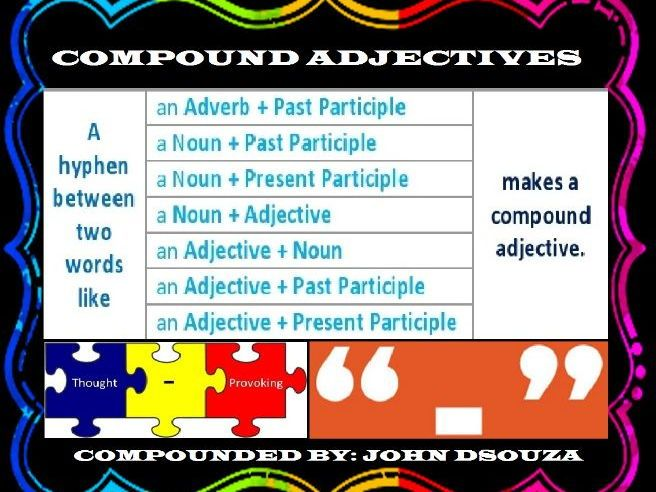 What are the rules for hyphenating adjectives?