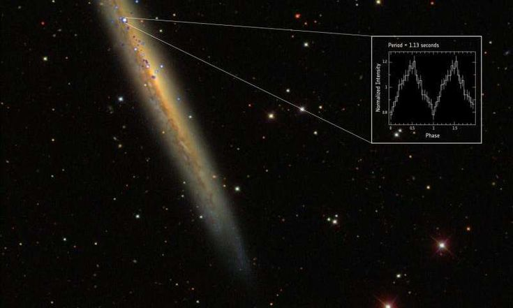 NGC 5907 X-1 is by far the brightest pulsar ever found in the universe.