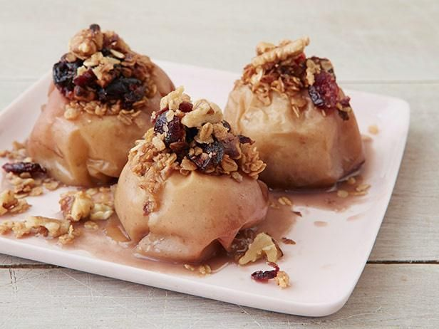 Get Food Network Kitchen's Slow-Cooker Cranberry-Walnut Stuffed Apples Recipe from Food Network