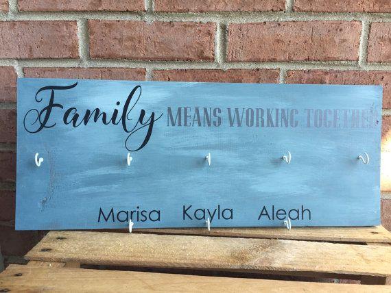 Family Chore Chart / Responsibility Chart / by JenBarrettDesigns