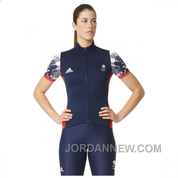 www.jordannew.com... ADIDAS WOMEN'S TEAM GB REPLICA TRAINING CYCLING SHORT SLEEVE JERSEY - BLUE CHEAP TO BUY Only $44.00 , Free Shipping!