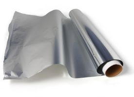 Heavy duty aluminum foil - Can be fashioned into cups, bowls, utensils, funnels, stove windscreen, just about anything. Can reflect heat from a fire. Conducts current. Makes a very effective solar still or oven. Roll off of tube and fold to reduce weight.  CHEAP $5