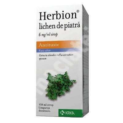 "Herbion lichen de piatra 6mg, 150 ml, Krka<br /><span class=""small"">[3838989637453]</span>"