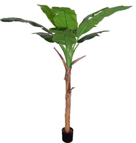 Bananenbaum 210cm DA künstliche Banane Bananenpalme künstlicher Baum Kunstbaum Kunstpflanzen