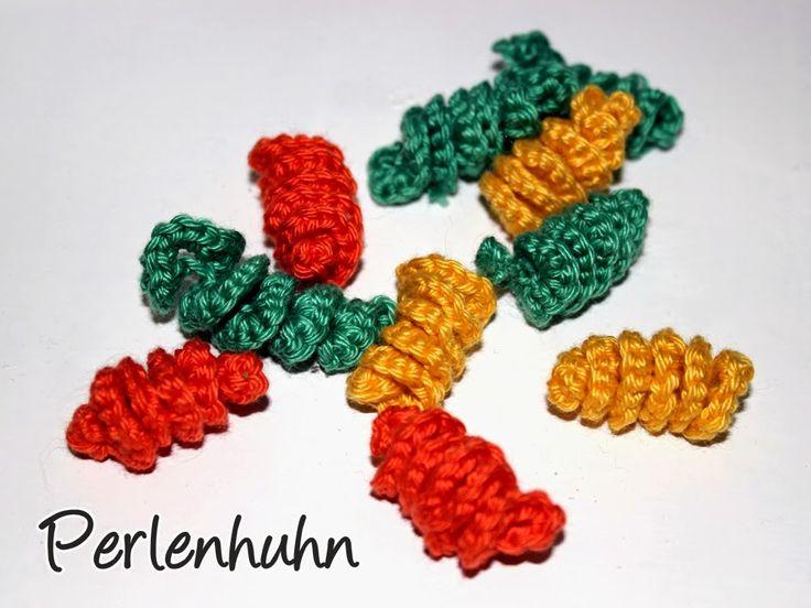 Perlenhuhn: Häkelanleitung: Spiralnudeln für die Kinderküche