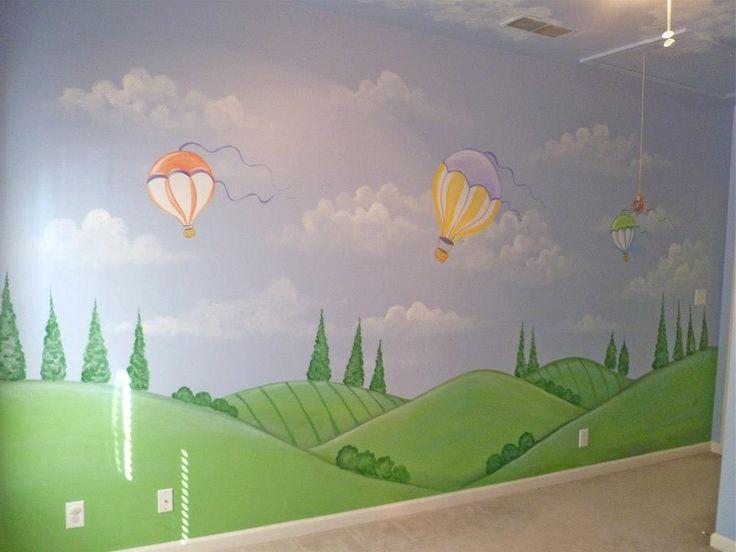 Hot Air Balloons Mural