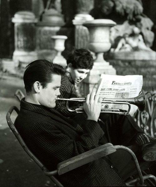 Chet in Paris, 1955-56.