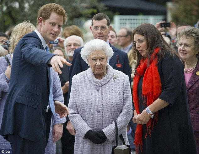 The Queen was delighted at her grandsons efforts but apparently told Harry to send a few plants to his fathers Stumpery at Highgrove as he needed a bit of greenery
