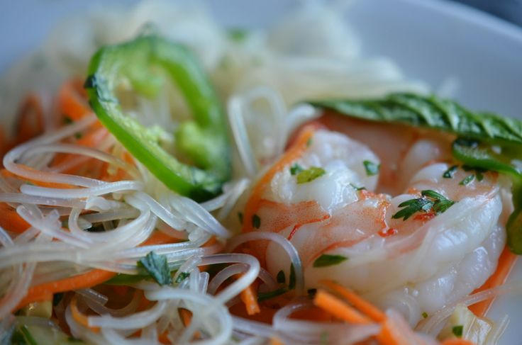 A cold salad for a hot summer day This salad contains all of the flavors and textures I love. Vietnamese rice noodle salad