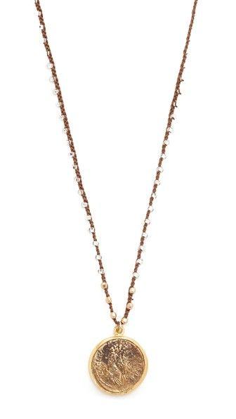 Native Gem Roman Fortuna Coin Necklace