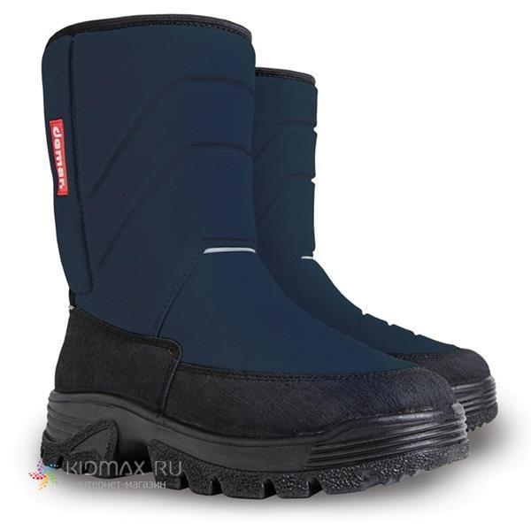 Детские сапоги синие в обувь ру