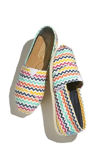 Toms for spring! Love the bright prints.