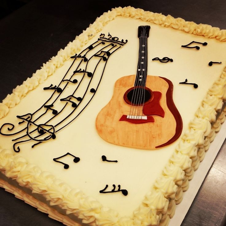 Guitar Cake Images With Name : Best 20+ Guitar birthday cakes ideas on Pinterest