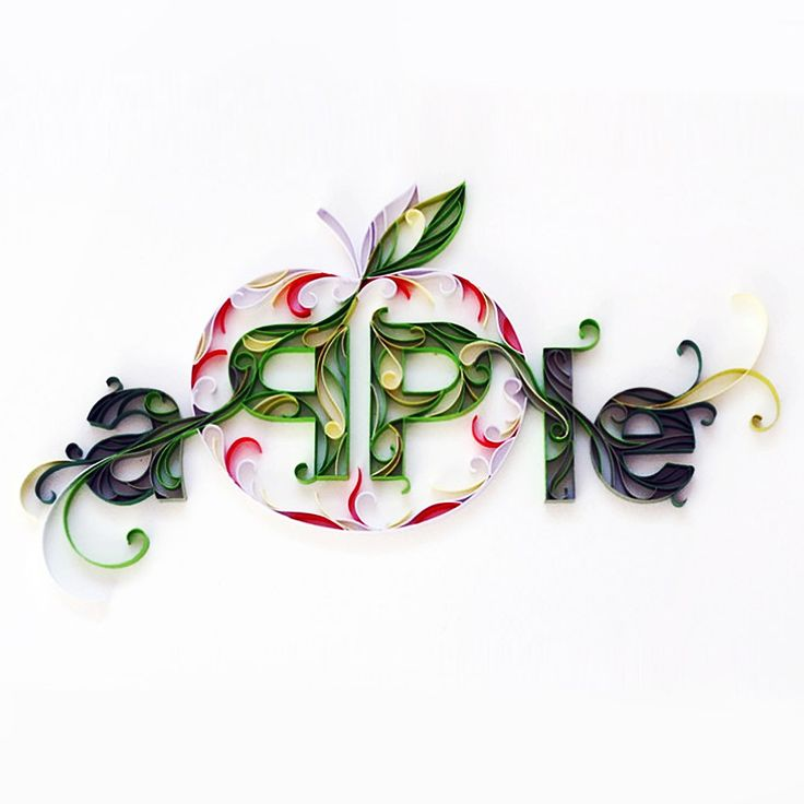 Green Apple Quilling Paper Creation DIY Kit