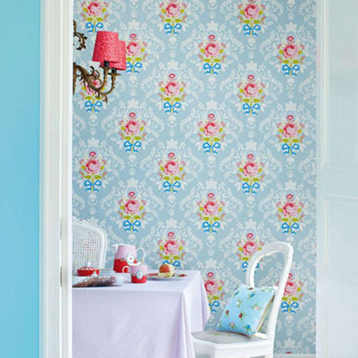 shabby chic wallpaper by pip studio by fifty one percent | notonthehighstreet.com
