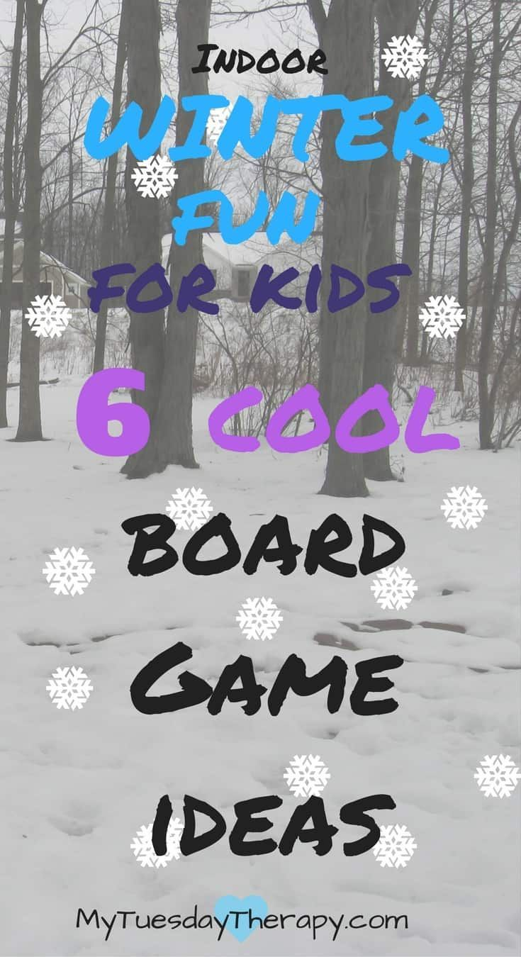 After you are done with all the outside fun. It is time for some cool winter themed board games for the whole family.   Snow Day   Indoor Activities for Kids   #rainyday #kidsactivities #boardgames via @www.pinterest.com/mytuestherapy