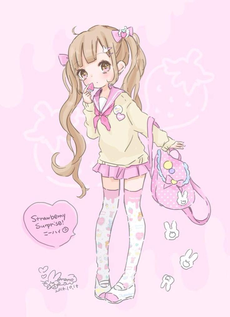 Kawaii Girl art by manamoko #manamoko