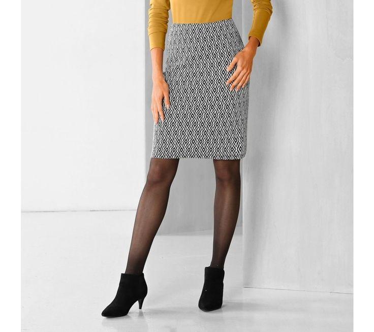 Rovná sukňa s grafickým vzorom | blancheporte.sk #blancheporte #blancheporteSK #blancheporte_sk #zimnákolekcia #zima