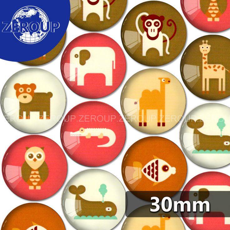 30 мм круглый стеклянный кабошон животное эскизы фотографии смешанной формы fit камея база установка для плоской задней ювелирных изделий 10 шт./лот