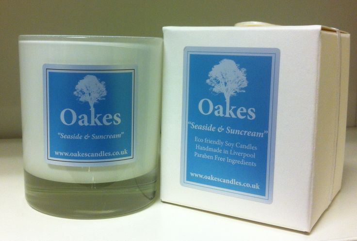 "Oakes Candles ""Seaside & Suncream"" 220g Candle To Shop Oakes Candles follow the website link!"
