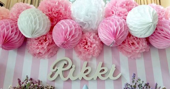 Sweet Table Backdrop from a Pink Princess Baptism Party via Kara's Party Ideas | The Place for All Things Party! KarasPartyIdeas.com (29)