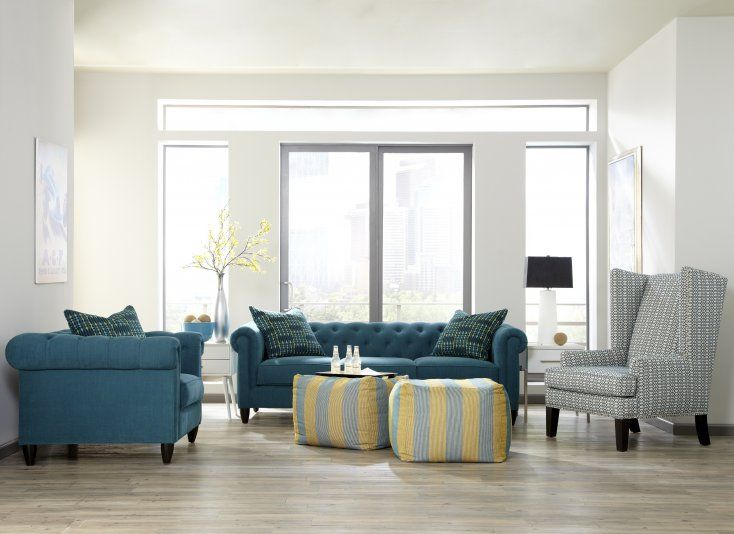 Hayward Living Room   Go Bold! Bright Vibrant Teals Matched With Hints Of  Butter Yellow