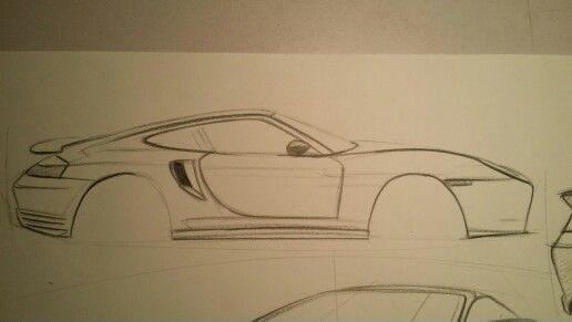 Porsche Turbo Pencil Sketch  GET YOUR CAR ART NOW!! Click Below  http://www.modbargains.com/professional-art-rendering.htm
