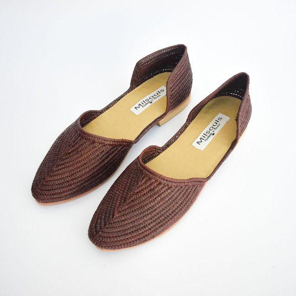 raffia flats ballerina shoes #flats #raffia #shoes #handmade
