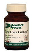 Zinc Liver Chelate 90 Tablets by Standard Process