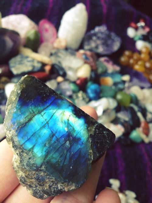 Labradorite. Great for working with the Third Eye Chakra, codependency, & self worth issues. One of the best stones to use when dealing with any type of addiction or to break unhealthy habits.