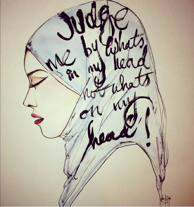 Judge me by what's in my head, not what's on my head! #hijab #quote