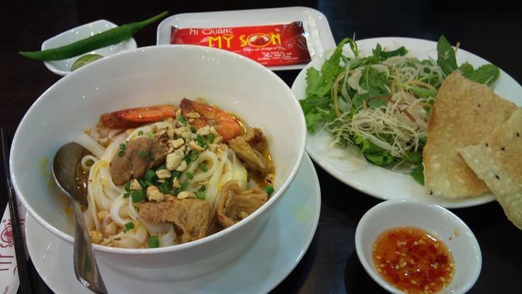 """""""Mỳ Quảng"""" (Quang Noodle), a kind of Vietnamese noodle."""