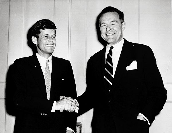 The new Senator-elect from the Commonwealth of Massachusetts, John F. Kennedy, meets with his defeated opponent, Henry Cabot Lodge.