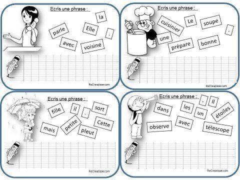 Ecrits envisagés : Les différents moyens pour engager les élèves sur le chemin de l'écriture : 1) Ecrits courts et quotidiens : Cette activité propose de produire quotidiennement à partir des cartes .Les enfants utiliseront les mots répertoriés au tableau , un glossaire illustré (voir chez IPOTAME le livret des mots ) ou le dictionnaire …