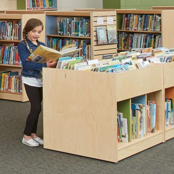 ColorScape® Book Browsers offer book selections at a kid-friendly height.