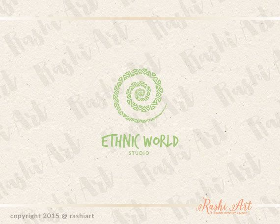 Premade ethnic logo for sale on Etsy.