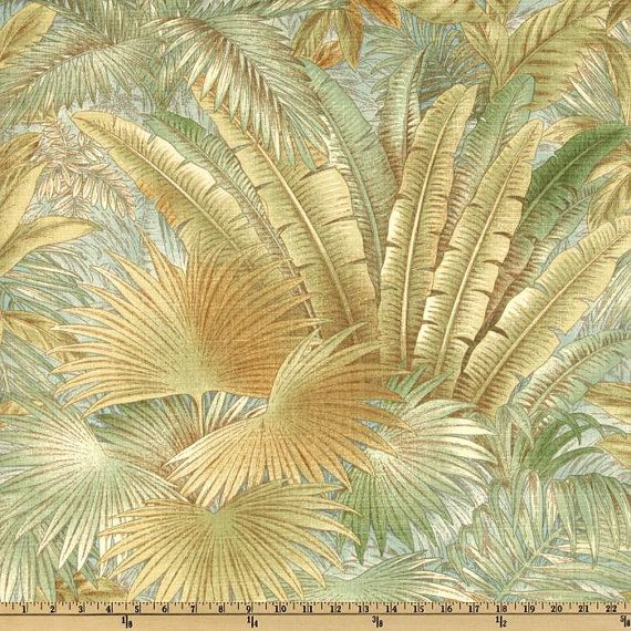 Tropical Upholstery Fabric by the Yard for Indoor/Outdoor