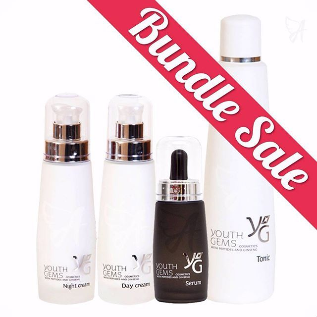 Exclusive Collagen Peptides, now at a reduced price! Deeply moisturizing natural rejuvenators. Bundle of 4 x Youth Gems: Tonic, Serum, Day Cream & Night Cream. Buy yours NOW while the stock lasts - link in the bio. #collagenpeptide #collagen #youthgems #skincare #skin #ageless #fortheageless #bundlesale #offer #bundles #deals #cosmetics #vitamine #vitaminc #serum #nightcream #daycream #tonic #panthenol #jojobaoil #cleanser #facelift #wrinkles #skinhydration #immunity #beauty #agelessbeauty…